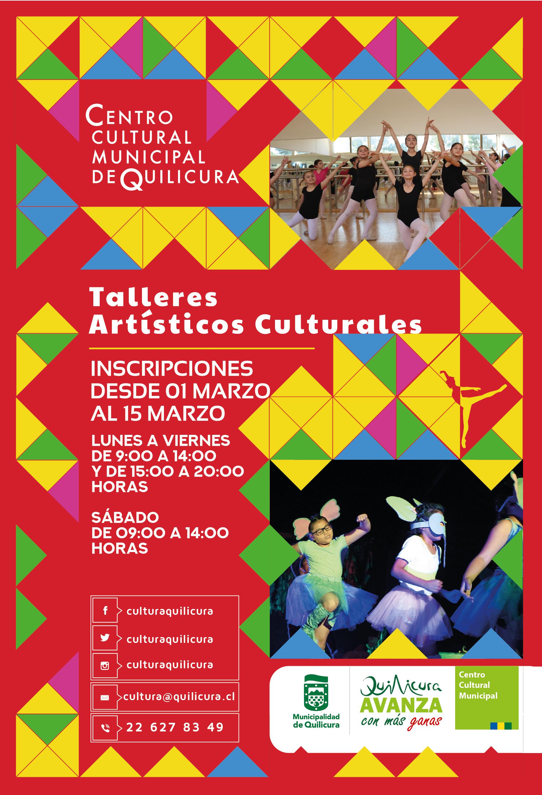 Talleres Artísticos Culturales @ Centro Cultural Municipal