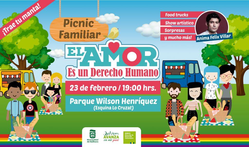 """Picnic Familiar """"El amor es un Derecho Humano"""" @ Parque Wilson Henríquez"""