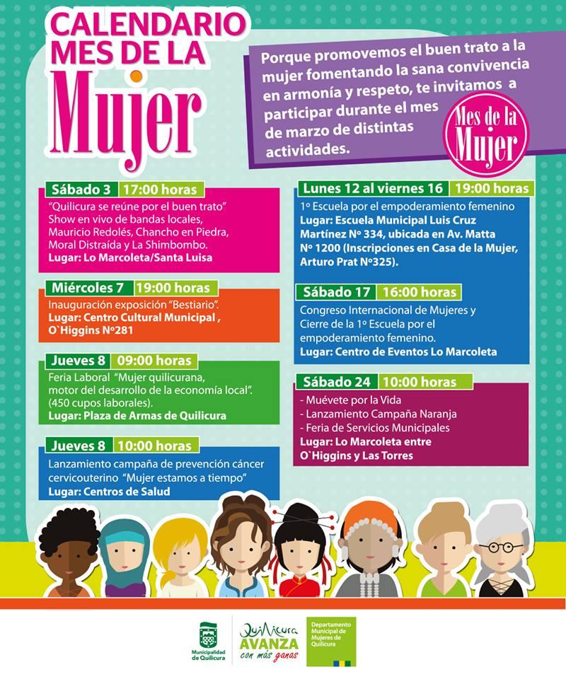 Calendario Mes de la Mujer @ Villas Quilicura