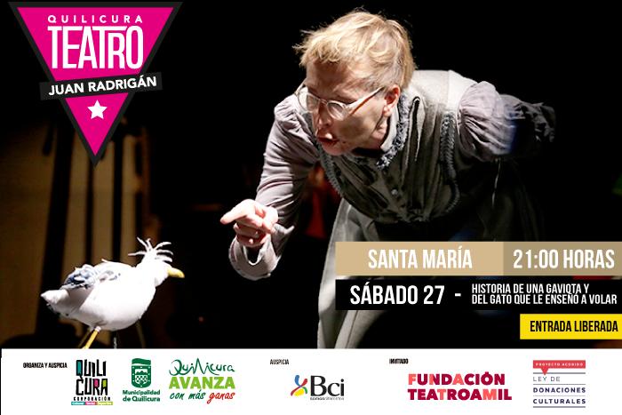 Teatro - Historia de una gaviota y del gato que le enseñó a volar @ Villa Santa Maria