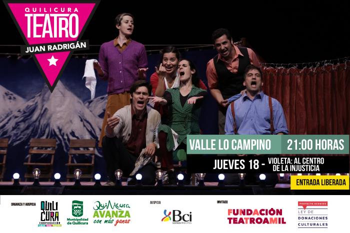 Teatro - Violeta Parra: Al Centro de la Injusticia (Homenaje a Violeta Parra) @ Valle Lo Campino